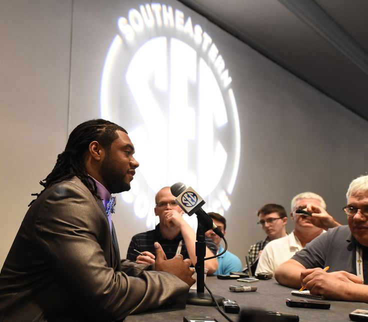 LSU's Terrence Magee at SEC Media Days in Hoover, AL 2014. ~ Check this out too ~ RollTideWarEagle.com sports stories that inform and entertain and Train Deck to learn the rules of the game you love. #Collegefootball Let us know what you think. #LSU