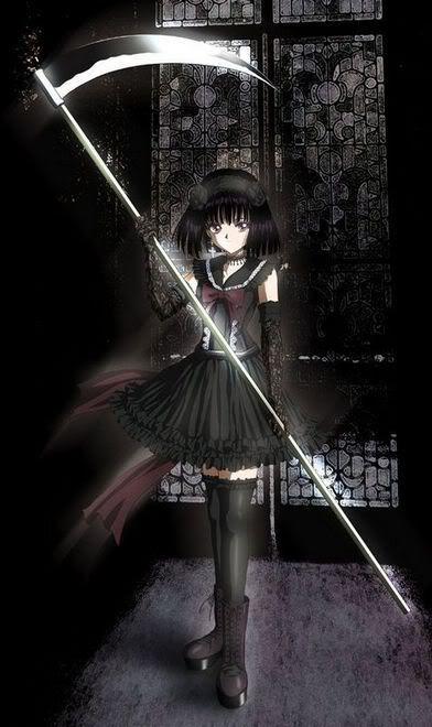 Dark anime scythe girl sailor saturn maybe has the kind - Anime scythe wallpaper ...
