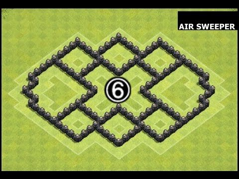 Clash of Clans Town Hall 6 (TH6) Farming Base Defense with Air Sweeper - YouTube
