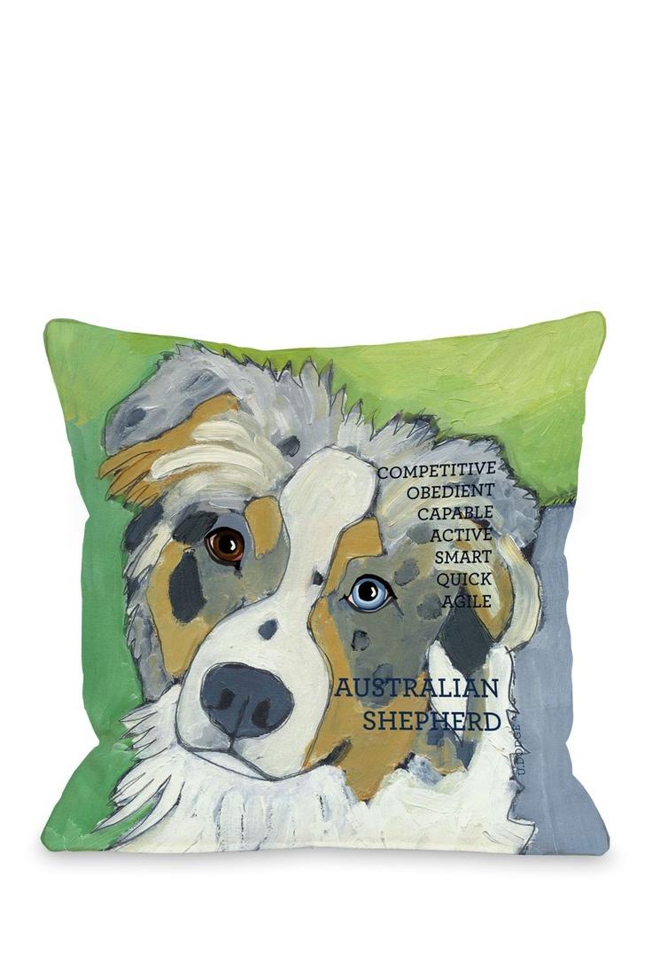 Australian Sheep Dog 1 Pillow