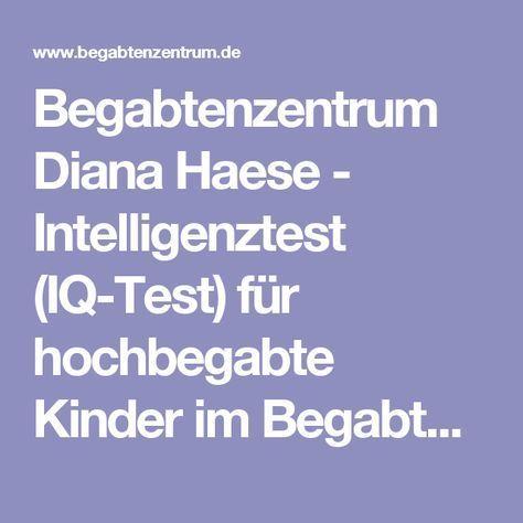 Begabtenzentrum Diana Haese - Intelligenztest (IQ-Test) für hochbegabte Kinder im Begabtenzentrum