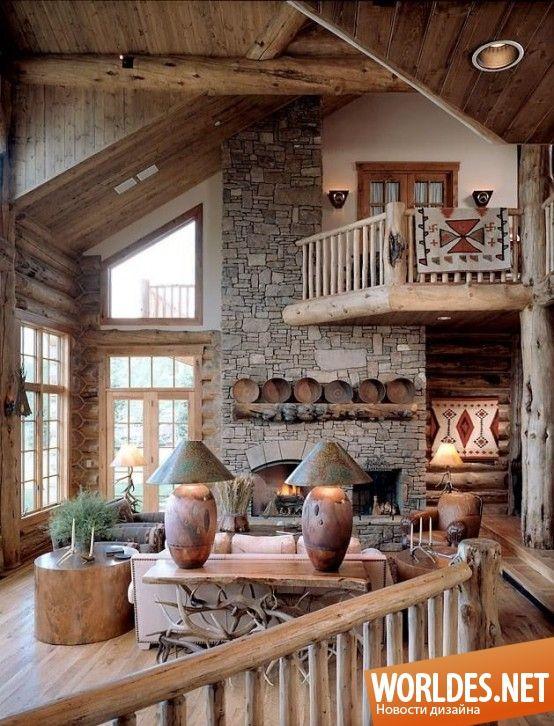 Уютные гостиные в деревенском стиле фото 6