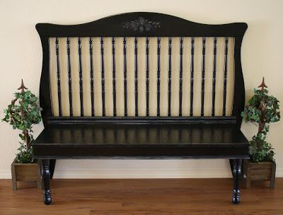 35 Ways to Repurpose Cribs (and Parts of Cribs) via TheKimSixFix.com