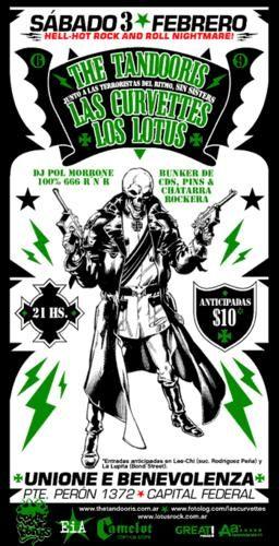 """Este flyer es del show en el que grabamos nuestro disco en vivo """"Bombs Away"""". 2007"""
