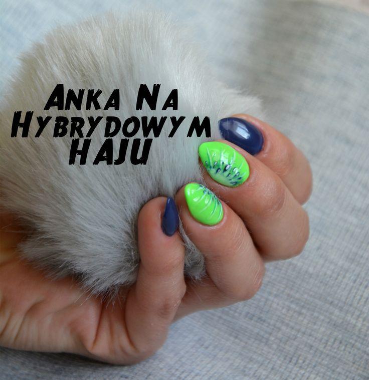 https://www.facebook.com/AnkaNaHybrydowymHaju/  #paznokcie #pazurki #manicure #hybrydy #AnkaNaHybrydowymHaju #Nails     #Nailart #wzorek #wzorki #kiwi