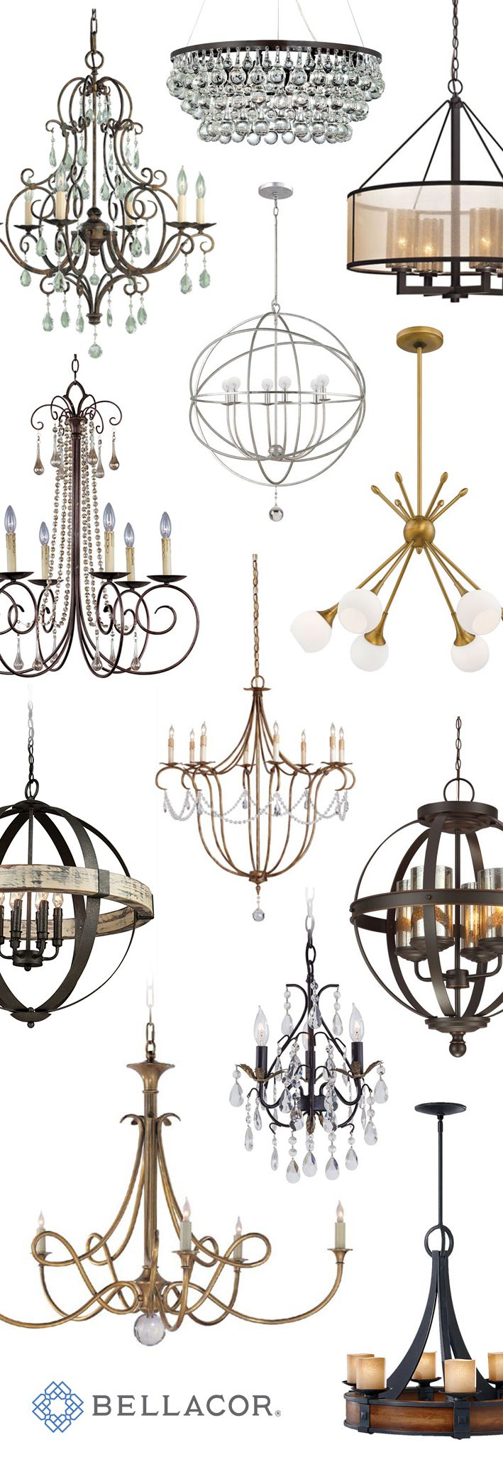 A chandelier from Bellacor can make a great focal point in your space. At up to 70% off, you can bring one of these pieces home for the lowest prices of the season. Free shipping on orders over $75 and a price match guarantee make sure these deals shine even brighter, along with your new chandelier. http://www.bellacor.com/chandeliers.htm?partid=social_pinterestad_holiday_chandeliers