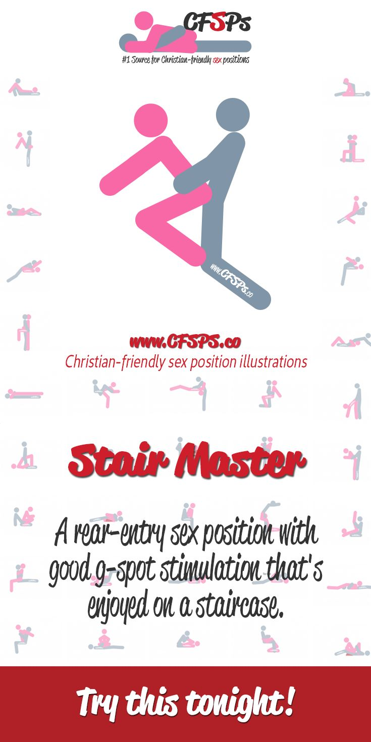 #TryThisTonight Stair Master is a rear-entry sex position with g-spot stimulation that's enjoyed on a staircase.