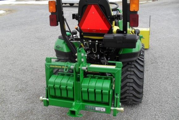 Compact Tractor Attachments | Category 1 Receiver Hitch and Suitcase Weight Bracket for 3 Point Hitch