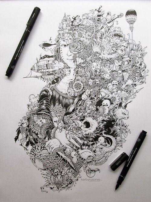 Sketchy Stories - Doodle Art of Kerby Rosanes