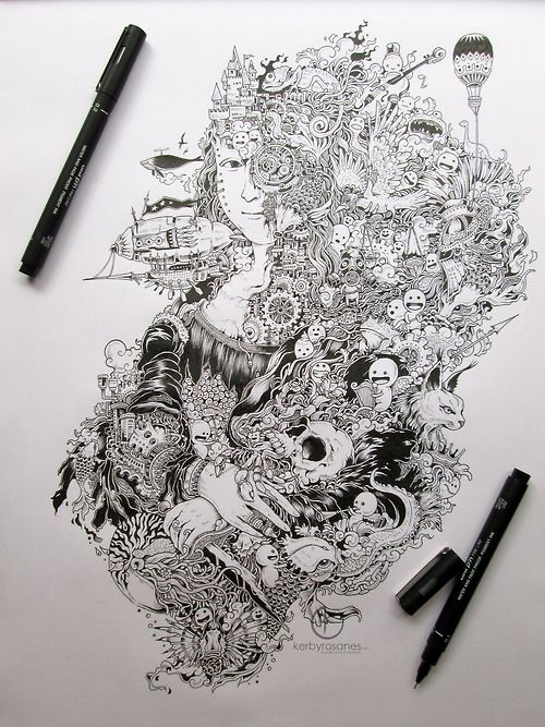 Sketchy Stories - Doodle Art of Kerby Rosanes