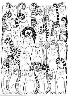 Cats Are Taking Over A4 Giclee Fine Art By JessicaWildeDesigns