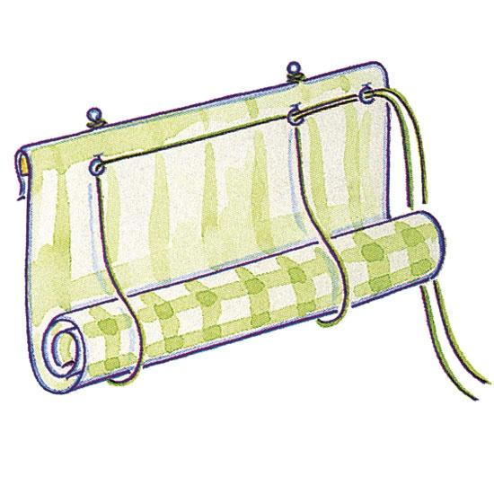 Make a roll-up blind - Hang the blind - housetohome.co.uk