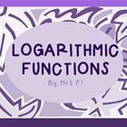 The topics included in these notes are the following: 1)	Logarithmic Functions defined 2)	Writing a logarithmic functions from an exponential funct...
