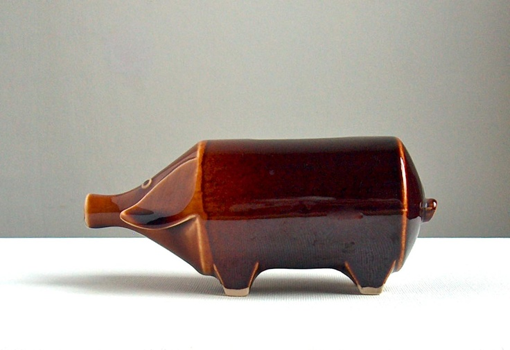 1950s Hornsea pottery piggy bank