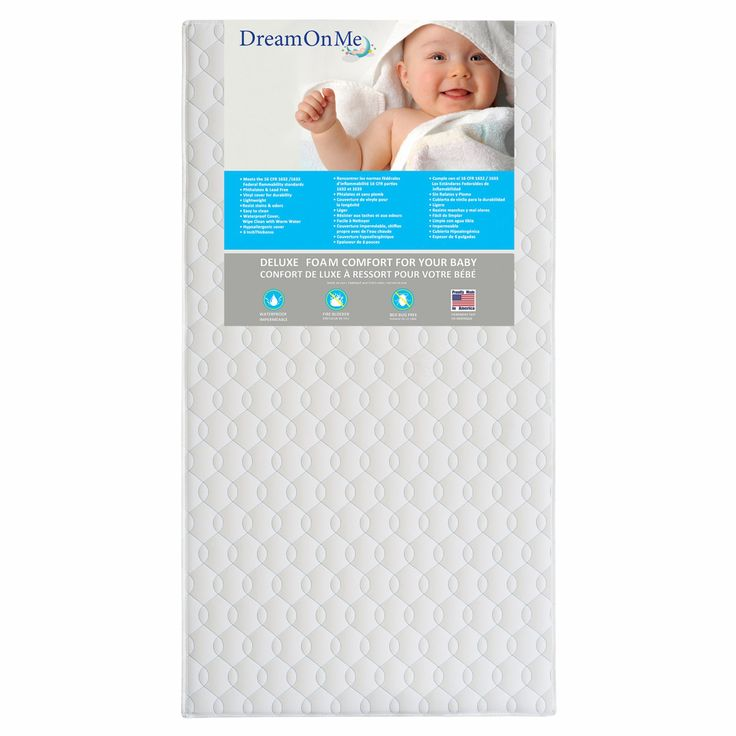 Dream On Me Carousel 6 in. Full Size Firm Foam Crib and Toddler Bed Mattress - 6E6CL