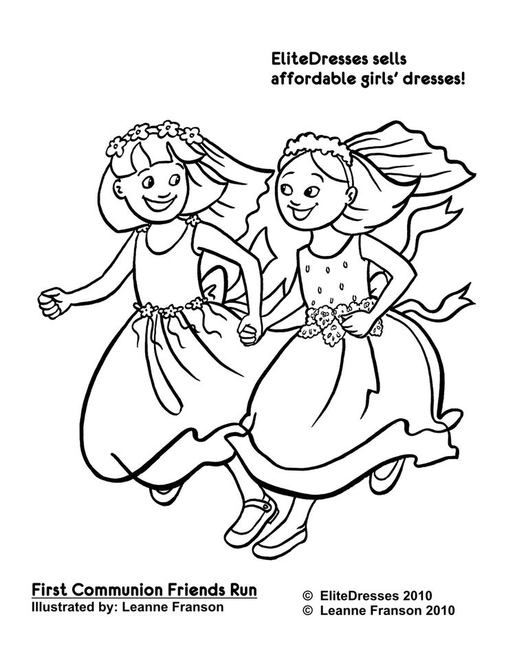 514 Best Images About First Holy Communion Dresses On Communion Coloring Pages