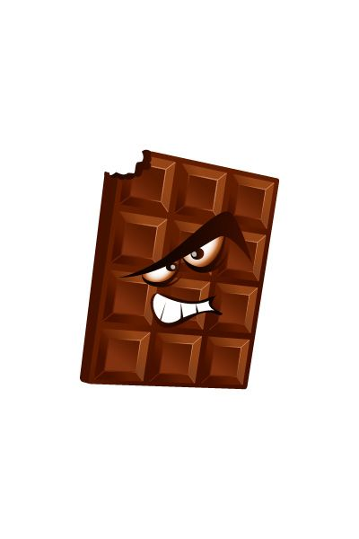 Bad Chocolate Vector Image #chocolate #dentist #vector #vectorpack http://www.vectorvice.com/dental-vector-pack