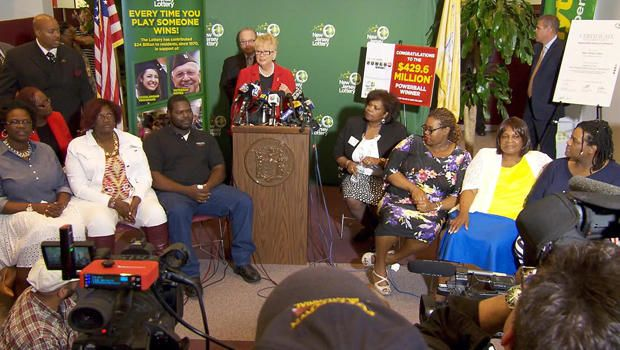 """Family That Won $429.6 Million Powerball Jackpot Uses Winnings To Improve Their Community -The Smith family from Trenton, NJ had the sole winning ticket for a May 2016 Powerball jackpot that had ballooned to over $429 million. The prize was shared by Pearlie Mae Smith and her seven adult children. Ms. Smith said it was """"divine intervention"""" that lead her to purchase the winning..."""