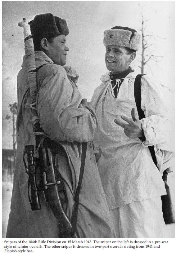 Francotiradores de la 104 División de Fusileros - 15 Marzo 1943