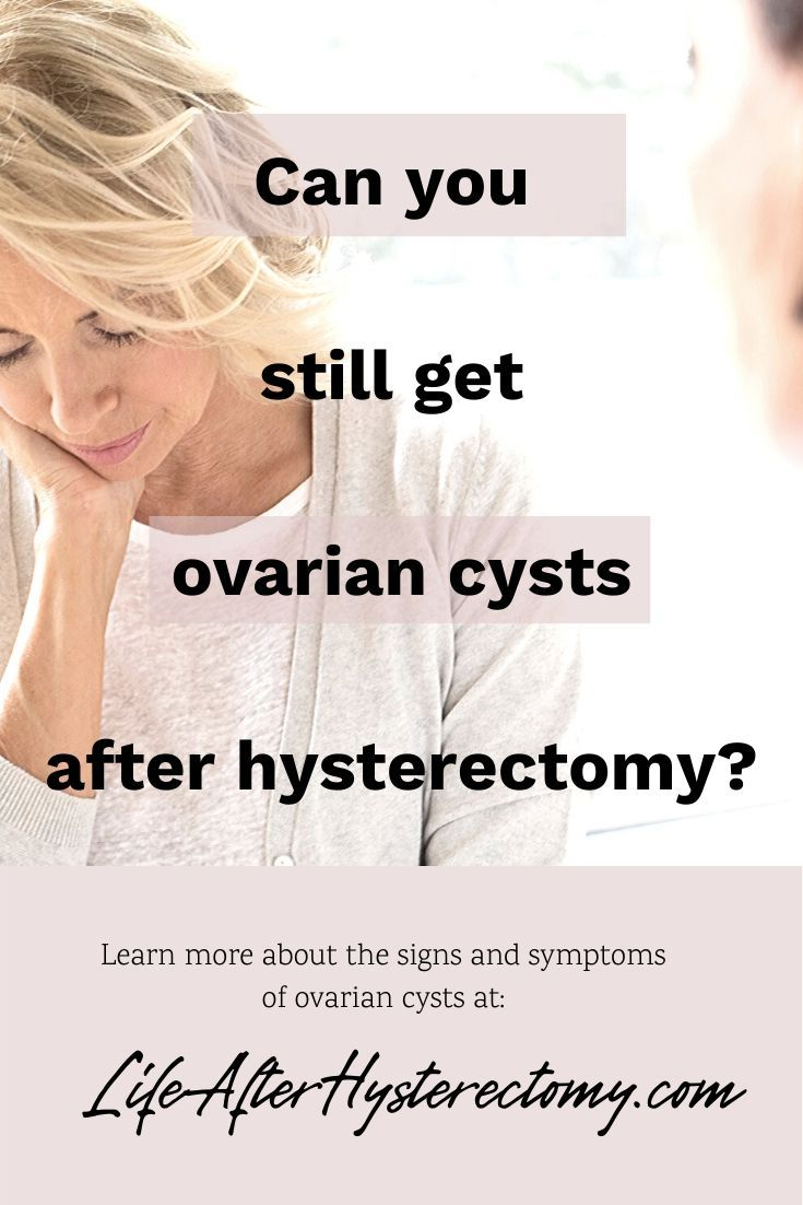 Can You Still Get Ovarian Cysts After Hysterectomy In 2020 Ovarian Cyst Ovarian Cyst Symptoms Hysterectomy