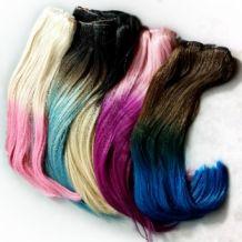 Crazy clip-ins - gekleurde clip-in hair extensions van echt haar