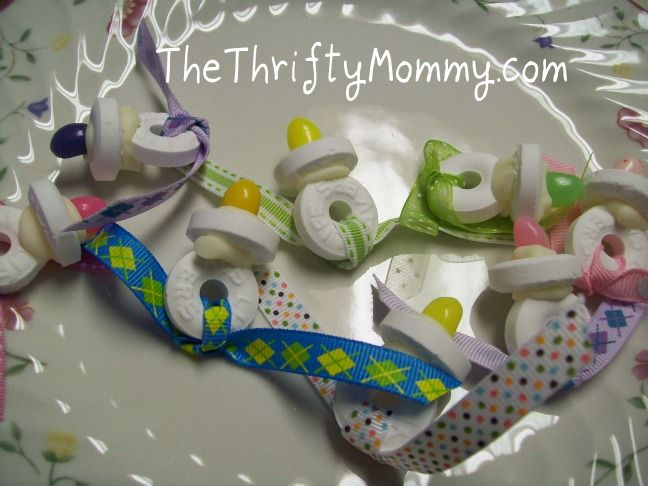 Pacifier baby shower favors: Party Favors, Showers, Shower Ideas, Party'S, Baby Shower Favors, Pacifiers Baby, Parties Favors, Parties Ideas, Baby Shower