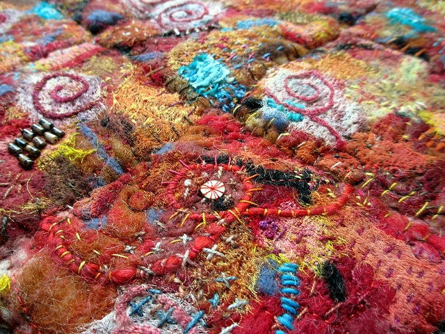 detail of art quilt entitled Sedona by janelafazio, via Flickr