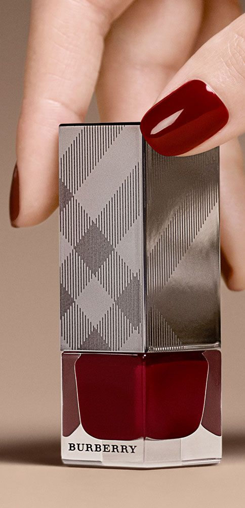 Discover Burberry nail polish in a rich Oxblood shade as part of the limited edition A/W14 set from Burberry Beauty