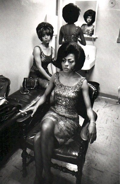 The Supremes backstage.