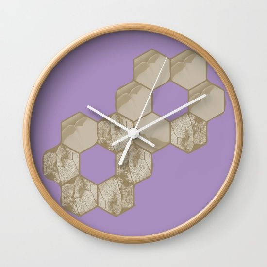 Hexagon flower and leaf in lilac - $30