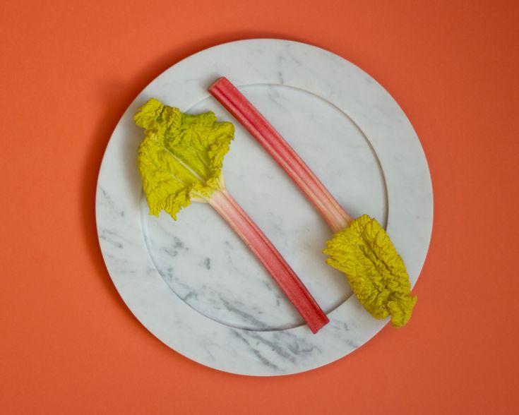 Marble plate from Stenhuggardottern. — #Marble #Plate #Rhubarb #Orange