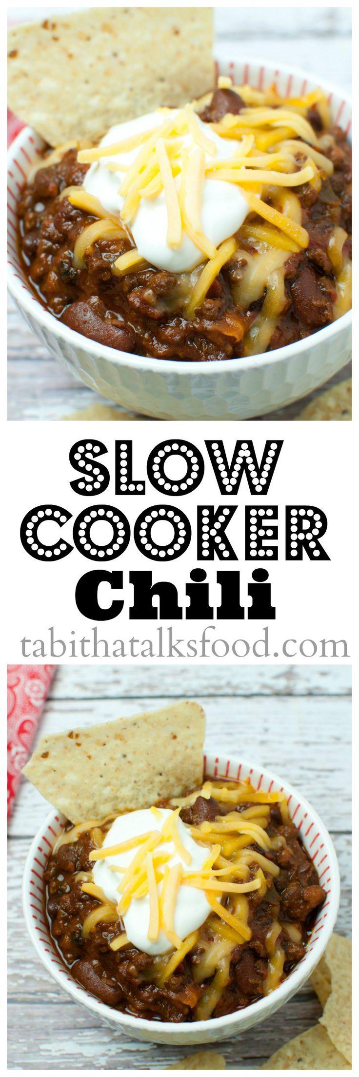 Slow Cooker Chili - Tabitha Talks Food