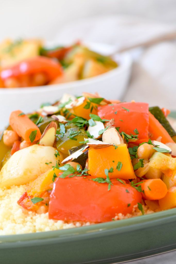 Seven-vegetable couscous is a traditional Sephardic dish for holidays but it is easy enough for a weeknight dinner. Vegetarian and can easily be made vegan!