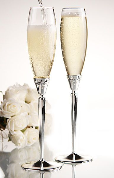 Waterford Monique Lhuillier Modern Love Collection, Toasting Flutes, Pair | ~LadyLuxury~