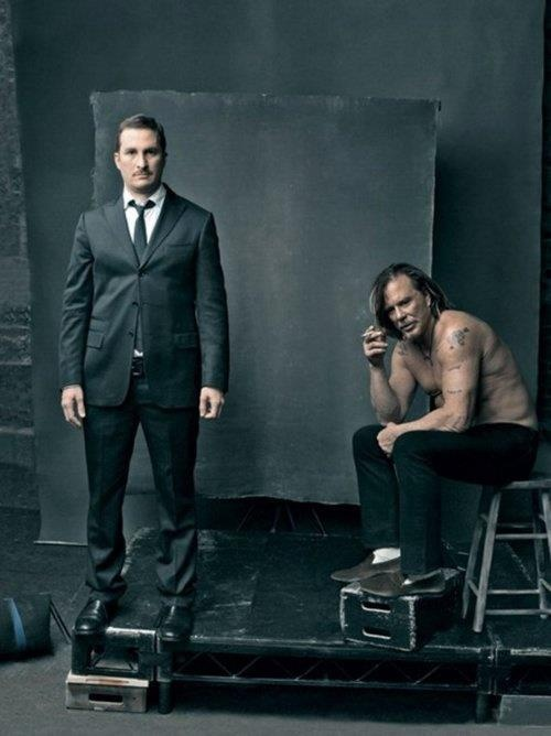 Darren Aronofsky and Mickey Rourke by Annie Leibovitz