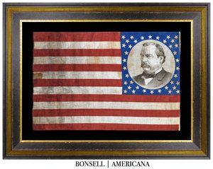 06eb7132e95f Antique Grover Cleveland Campaign Flag