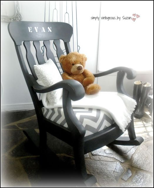 simply suzan a rocking chair makeover - Wooden Rocking Chair Cushions