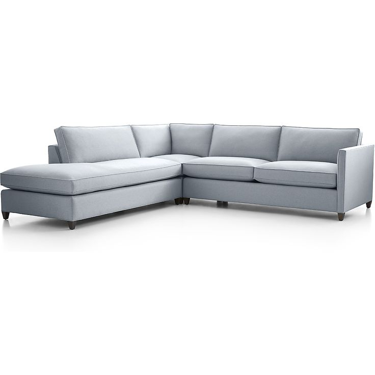Shop Dryden 3-Piece Left Bumper Sectional.    For a bit of sparkle and classic definition, a hand-applied nailhead trim is also available.  Dryden 3-Piece Left Bumper Sectional is a Crate and Barrel exclusive.