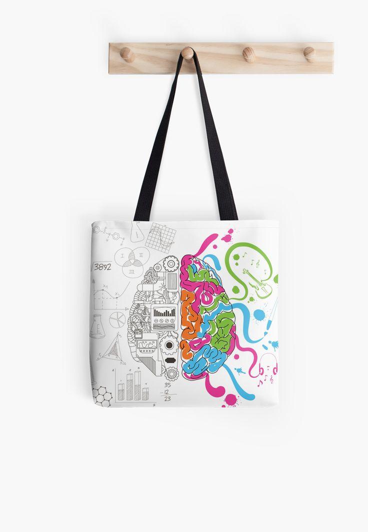 Brain Creativity Illustration by Gordon White | Creative Brain Chemistry Tote Bag Hanging from Wall Available @redbubble @redbubblecreate  ---------------------------  #redbubble #sticker #brain #creative #creativity #chemistry #nerd #geek #cute #adorable #totebag #bags  ---------------------------  http://www.redbubble.com/people/blackbox23/works/23716610-creative-brain-chemistry?asc=u&p=tote-bag&rel=carousel