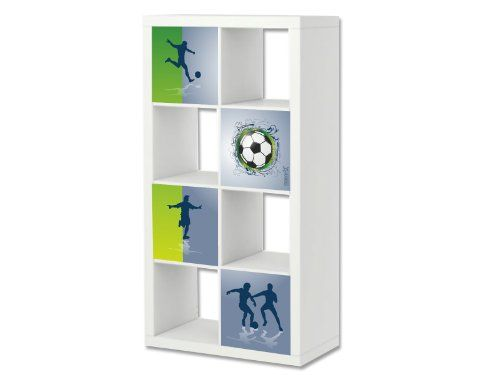 Fußball Möbelsticker / Aufkleber-Set passend für das Regal EXPEDIT / KALLAX von IKEA - ER04 Stikkipix http://www.amazon.de/dp/B00CYHXW5C/ref=cm_sw_r_pi_dp_70HBvb0CDPGVQ