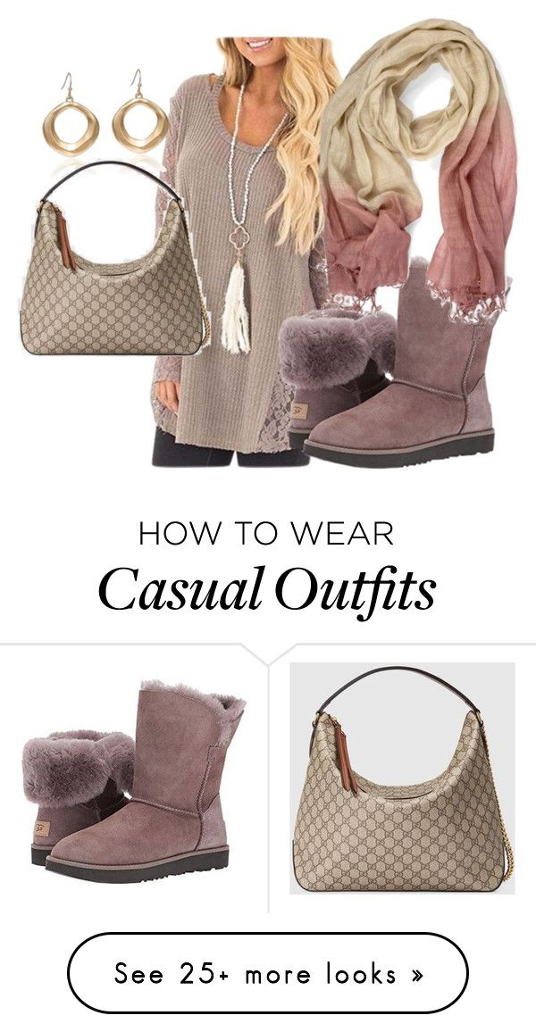 """""""Comfy Casual Wear"""" by essish on Polyvore featuring UGG and Gucci"""