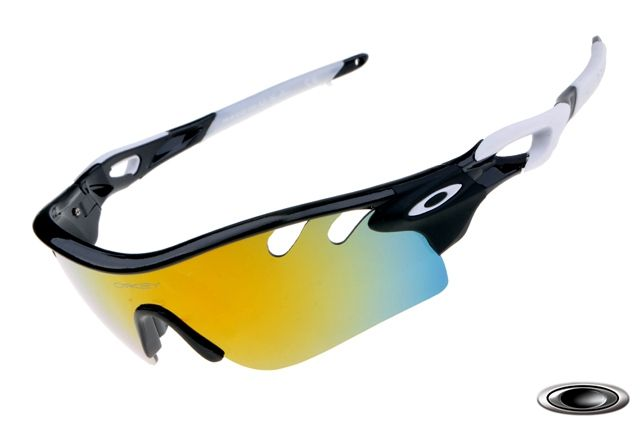 low-cost Oakley RadarLock Path Black White Frame Fire Lens sale online,  save up