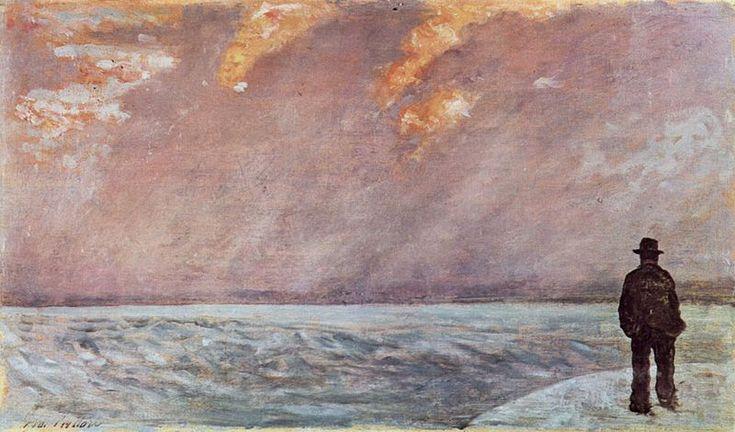Giovanni Fattori http://www.giovannifattori.com/wp-content/uploads/2011/02/Fattori-Tramonto-sul-mare-1890-95.jpg