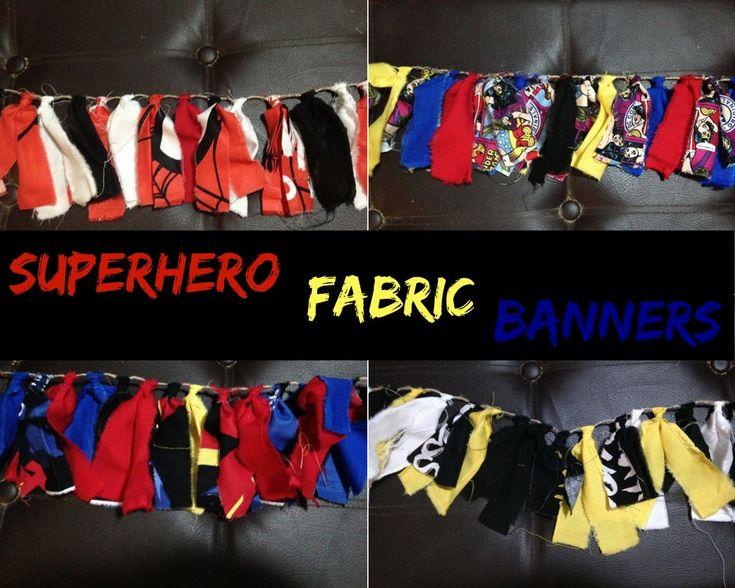 One of my #favorite listings from my #etsy #shop: #SuperHero #Fabric #Banner: #Batman #Superman #Spiderman #WonderWoman #BirthdayParty #Garland, #Decoration. #Photo #Prop. #Frontdoor. #Wall #Hanging #papergoods #red #christmas #black #party #chevron #fabricgarland #fabricbanner