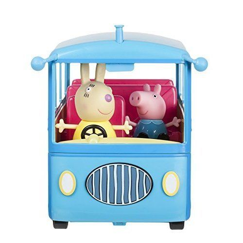 Peppa Pig Toys School Bus Trip Miss Rabbit Action Figures Kids Playset #PeppaPig