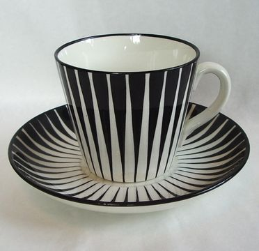Zebra cup, Swedish design classic. Designed by Eugene Trost for Gefle Porslinsfabrik in 1955.