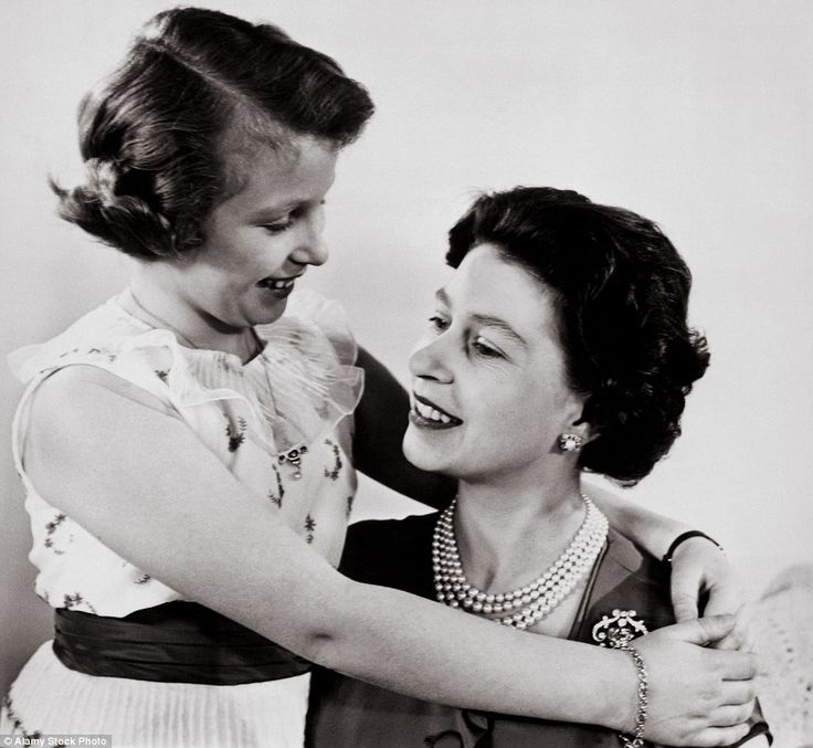 The Queen with her daughter Princess Anne in March 1960 - away from the formalities of royal life, the two women are exceptionally close