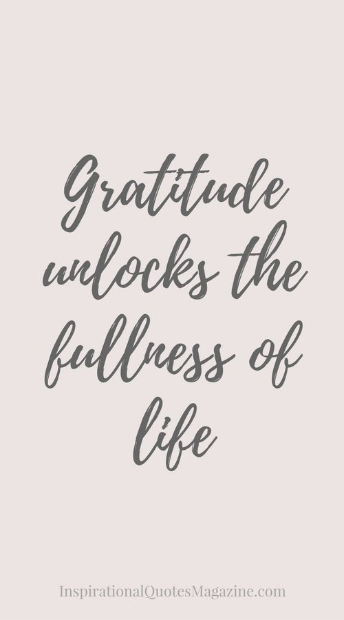 Inspirational Quote about Life and Gratitude - Visit us at InspirationalQuotesMagazine.com for the best inspirational quotes!