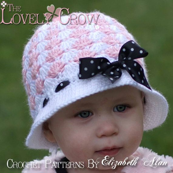Cloche Crochet Pattern for SWEET ELEGANCE CLOCHE by TheLovelyCrow, $5.95