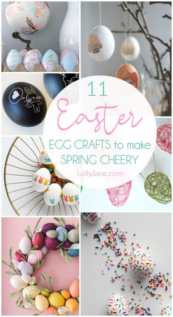 11 Easter Egg Crafts For Easy Spring Decor Egg Crafts Easter Egg Crafts Easter Crafts